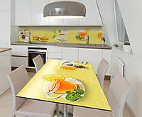 Наклейка 3Д виниловая на стол Zatarga «Чай с Лимоном» 650х1200 мм для домов, квартир, столов, кофейн,, фото 1