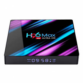 TV приставка Rockchip H96 Max RK3318, 4GB RAM, 64 ГБ ROM, чорна