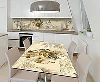 Наклейка 3Д виниловая на стол Zatarga «Карнавальная Маска» 650х1200 мм для домов, квартир, столов,