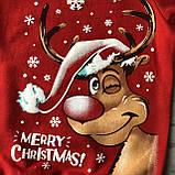 Теплий новорічний джемпер на хлопчика і дівчинку 2. Розміри 92, 98 см, 104 см, 110 см, 116 см, 122 см, фото 2