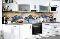 """Скинали на кухню Zatarga  """"Горы в Облаках""""  600х2500 мм виниловая 3Д наклейка кухонный фартук самоклеящаяся, фото 1"""