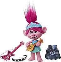 Лялька Трояндочка музична Світовий тур DreamWorks Trolls World Tour Pop-to-Rock Poppy Singing Doll