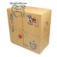 Коробка для подарунка Від Діда Мороза чи Святого Миколая 20*20*10см Квадратна середня глибока