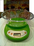 Кухонные электронные весы от 7 кг с чашей,EK-01, Кухонные весы, весы с чашкой, электронные портативные настоль, фото 1