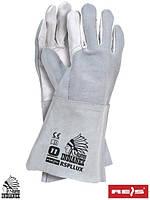 Перчатки сварщика кожаные рабочие (краги) REIS (RAWPOL) Польша RSPLLUX WJS