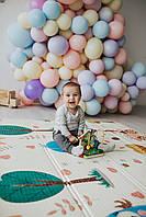 Ковер детский безворсовый 180*200*1 см Парк/мишки