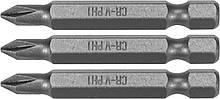 "Насадка викрутки STHOR : ""Phillips"" PH1 х 50 мм, HEX 1/4"", Cr-V, 3 шт Sthor 65456"