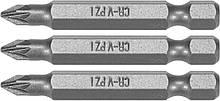 "Насадка викрутки STHOR : ""Pozidriv"" PZ1 x 50 мм, HEX 1/4"", Cr-V, 3 шт Sthor 65475"