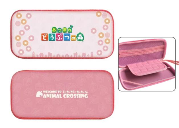 Тканевый чехол кейс Animal Crossing для Nintendo Switch + накладки на стики / Есть стекло