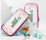 Тканевый чехол кейс Animal Crossing для Nintendo Switch + накладки на стики / Есть стекло, фото 6