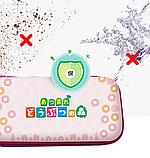 Тканевый чехол кейс Animal Crossing для Nintendo Switch + накладки на стики / Есть стекло, фото 5