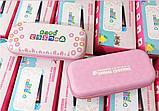 Тканевый чехол кейс Animal Crossing для Nintendo Switch + накладки на стики / Есть стекло, фото 7