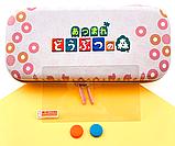 Тканевый чехол кейс Animal Crossing для Nintendo Switch + накладки на стики / Есть стекло, фото 8