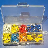 245шт Набор наконечников для соединения кабеля разного диаметра 0.75 - 6 мм в органайзере + клеммы кольцевые