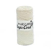 Сутажный шнур Maccaroni Magic Cord, цвет молочный