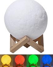 Настільний світильник Magic 3D Moon Light RGB Місяць 12,5 см + пульт