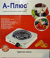 Плита электрическая А Плюс - 2101, для дачи и маленькой кухни, авто-термостат, конфорка-спираль