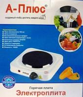 Плита электрическая А Плюс - 2102, для дачи и маленькой кухни, авто-термостат, конфорка-спираль