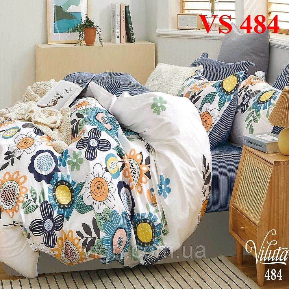 Двоспальне постільна білизна, сатин, Вилюта «Viluta» VS 484