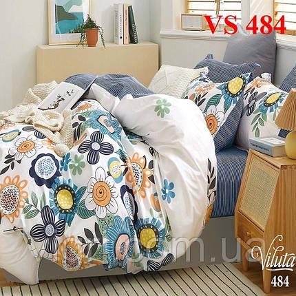 Двоспальне постільна білизна, сатин, Вилюта «Viluta» VS 484, фото 2