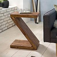 Кофейный столик из массива древесины Шешам Z Cube 59см коричневый