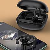 Наушники беспроводные Bluetooth USAMS US-YI001 в кейсе, черные, фото 4