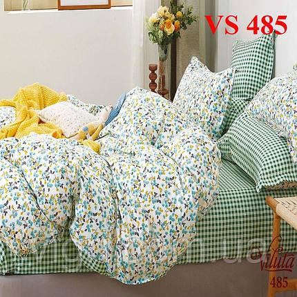 Двоспальне постільна білизна, сатин, Вилюта «Viluta» VS 485, фото 2