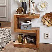 Кофейный столик S форма в стиле кантри дерево коричневый