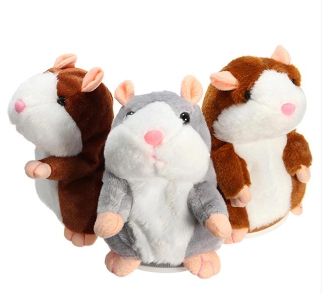 Говорящий хомяк-повторюшка, Мягкая игрушка повторяет слова, Говорящая игрушка для детей