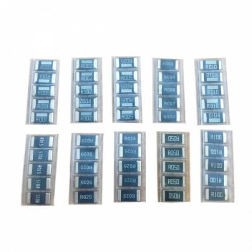 50x Резистор SMD 2512 1Вт 1% 0.001-0.1Ом, набор, 105354