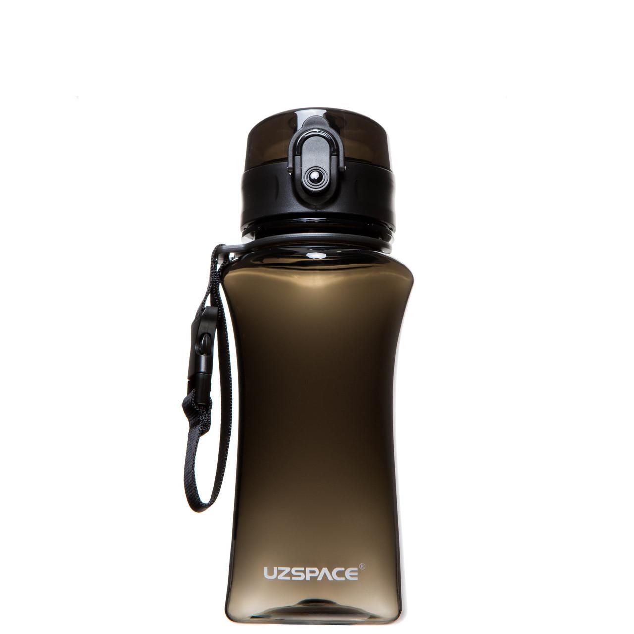 Бутылка для воды UZSPACE 6005 350 мл, черная