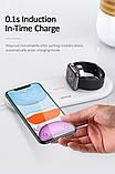 Бездротове зарядний пристрій Qi USAMS для Apple Watch, Mobiles, Навушники US-CD119, біле, фото 2