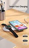 Бездротове зарядний пристрій Qi USAMS для Apple Watch, Mobiles, Навушники US-CD119, біле, фото 5