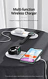 Зарядное устройство беспроводное Qi USAMS для Apple Watch, Mobiles, Earbuds US-CD119, белое, фото 7