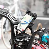 Тримач велосипедний CA58 One-button bicycle motorcycle універсальний holder, чорний, фото 2