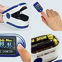 Измеритель пульса и кислорода Пульсоксиметр. Пульсометр на палец. Антисептик в подарок!, фото 5