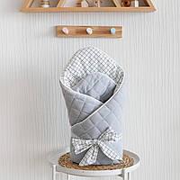 """Велюровый конверт-одеяло """"Tessera"""", серый"""