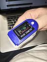 Измеритель пульса и кислорода Пульсоксиметр. Пульсометр на палец. Антисептик в подарок!, фото 2