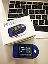Измеритель пульса и кислорода Пульсоксиметр. Пульсометр на палец. Антисептик в подарок!, фото 3