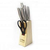 Набор ножей А-плюс KF-1006, кухонные ножи. столовые ножи. подставки для ножей, фото 1