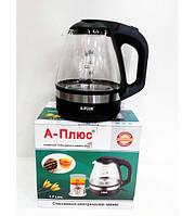 Электрочайник стеклянный A-PLUS 2131,электрочайники,кухонная посуда,чайники,электрический