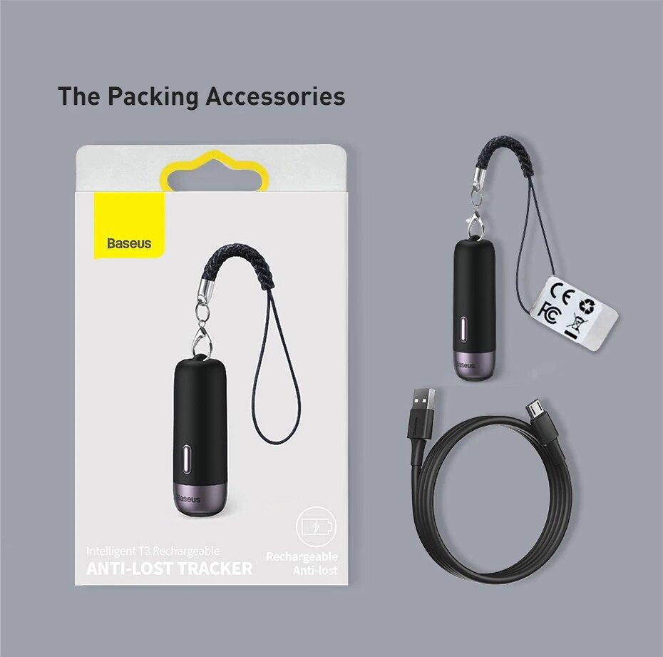 Baseus T3: GPS-трекер брелок з двостороннім зв'язком