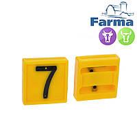 """Блок цифровой """"7"""" (45*45 мм) к ошейнику для идентификации животных FARMA (Нидерланды)"""