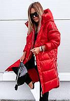Модная тёплая женская куртка плащевка S-XL