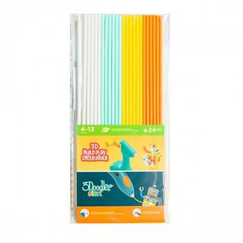 Набір Стержнів Для 3D-Ручки 3Doodler Start - Мікс (24 Шт: Білий, М'ятний, Жовтий, Оранжевий) 3DS-ECO-MIX1-24