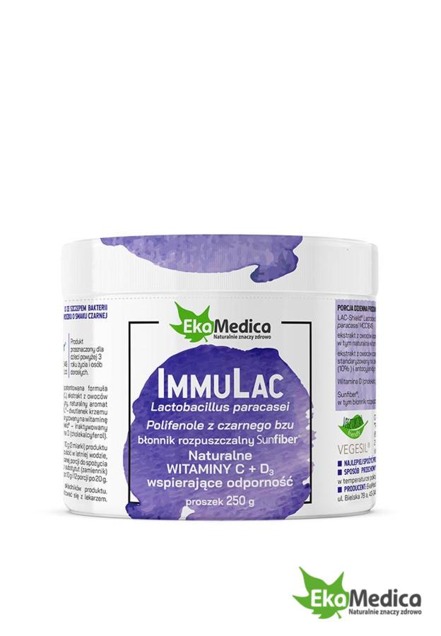 Иммуностимулятор, Витамин C + Витамин D3 с экстрактом бузины 250g, Ekamedica