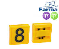 """Блок цифровой """"8"""" (45*45 мм) к ошейнику для идентификации животных FARMA (Нидерланды)"""