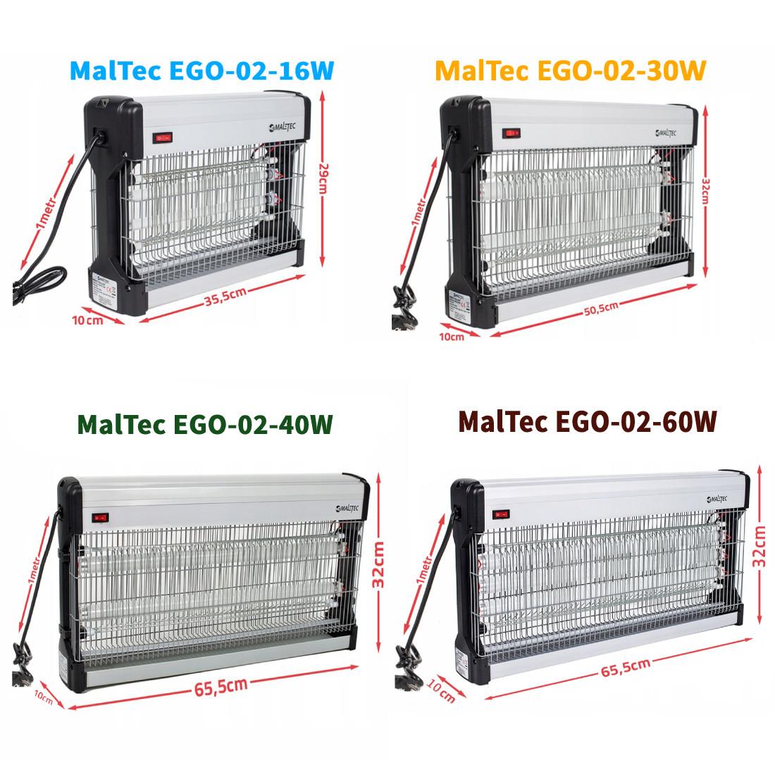 Уничтожитель насекомых Maltec EGO-02  16W 30W 40W 60W