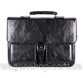 Чорний чоловічий портфель ділового стилю