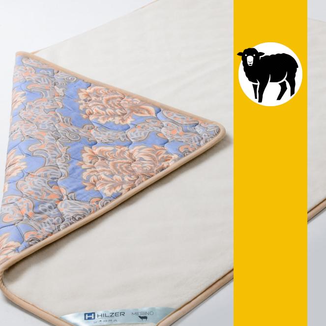 Ковдра з овечої вовни породи Меринос та Сатину Hilzer 100х140 см